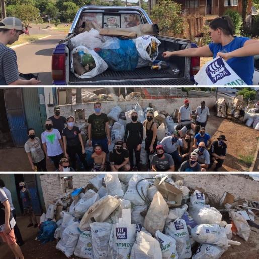 Ação do Rotary e Rotaract recolhe seis cargas de lixo na BR-282