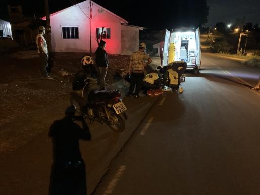 VÍDEO: Motociclista fica ferida após bater em cachorro em SMOeste