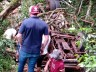 Carreta tomba e casal fica ferido em grave acidente na RSC-472