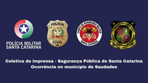 Governadora e Órgãos de Segurança Pública concedem coletiva sobre tragédia em Saudades